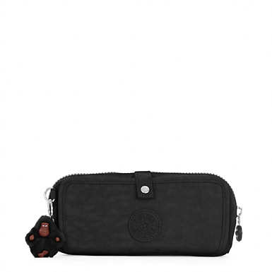 Wolfe Roll-Up Pencil-Makeup Pouch - Black