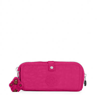 Wolfe Roll-Up Pencil-Makeup Pouch - Very Berry