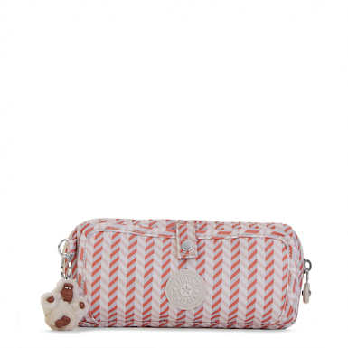 Wolfe Roll-Up Pencil-Makeup Pouch - Zest Pink