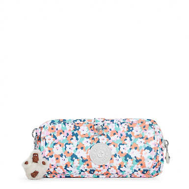 Wolfe Roll-Up Pencil-Makeup Pouch - Meadow Flower Pink