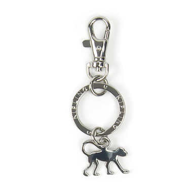 Signature Monkey Key Charm - Silver