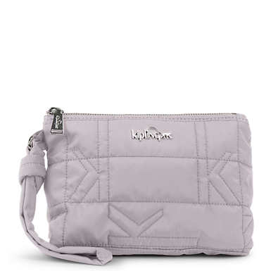 Lonnie Quilted Wristlet - Slate Grey Plaid Combo