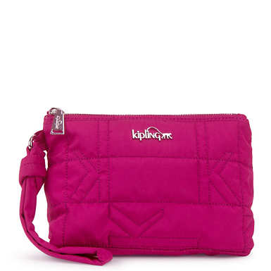 Lonnie Quilted Wristlet - Spring Red