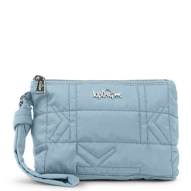 Lonnie Quilted Wristlet - Shell Blue