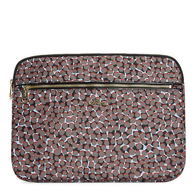 "Junya 2 Printed 15"" Laptop Sleeve - Graphic Animal Brown"