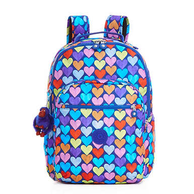 Seoul Large Printed Laptop Backpack - Festive Beauty Blue