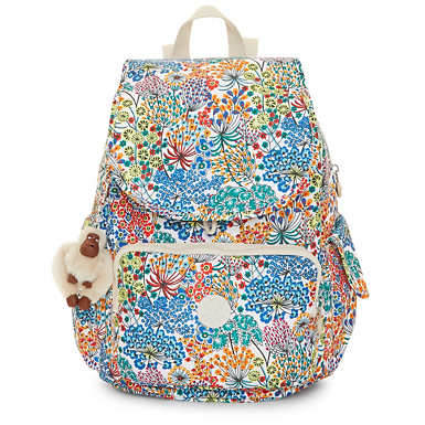 Ravier Medium Printed Backpack - Little Flower Blue