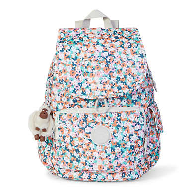 Ravier Medium Printed Backpack - Meadow Flower Pink