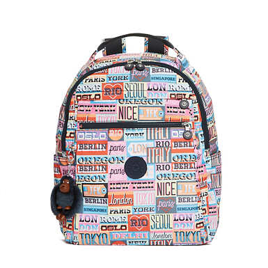 Micah Printed Medium Laptop Backpack - Hello Weekend