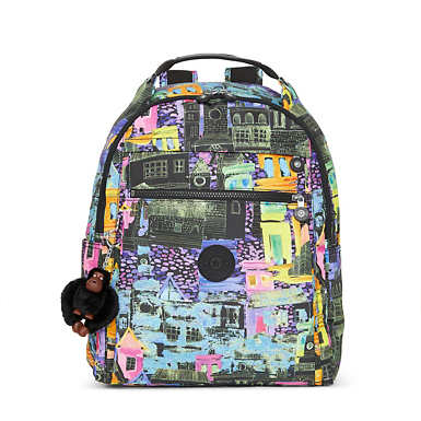 Micah Printed Medium Laptop Backpack - Coronado Streets