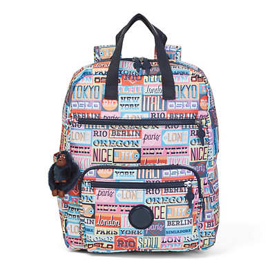 Sharpay Medium Printed Laptop Backpack - Hello Weekend