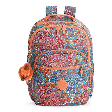 Seoul Large Printed Laptop Backpack - Sunshine Happy