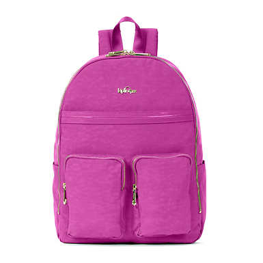 Tina Large Laptop Backpack - Purple Garden