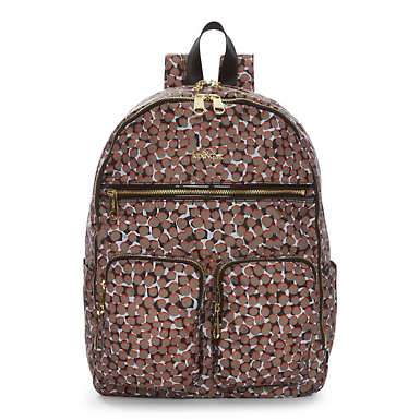Tina  Large Laptop Backpack - Graphic Animal Brown