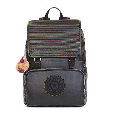Washington Large Coated Laptop Backpack - Lacquer Black