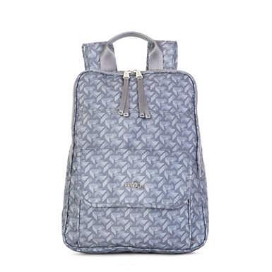 Sandra Large Printed Laptop Backpack - Optic Grey