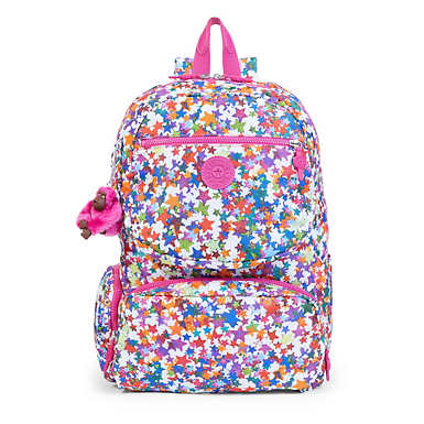 Dawson Large Printed Laptop Backpack - Kalidescope Block