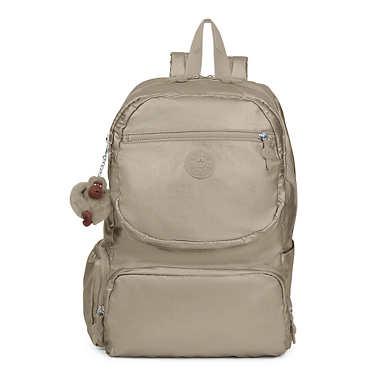 Dawson Large Metallic Laptop Backpack - Metallic Pewter
