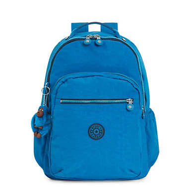 Seoul Large Laptop Backpack - Multigrain Woven Blues