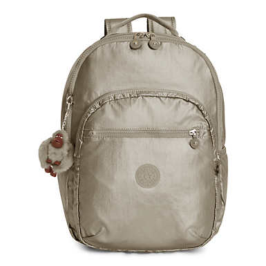 Seoul Large Metallic Laptop Backpack - Metallic Pewter