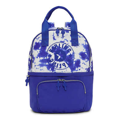 Declan Printed Gym Tote Backpack - Mariposa Wind Sapphire