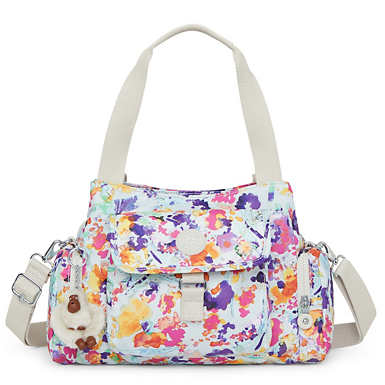 Felix Printed Handbag - Melted Floral