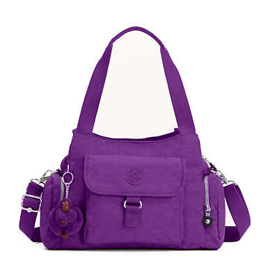 Felix Large Handbag - Tile Purple