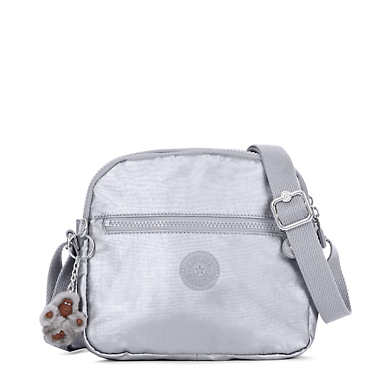 Keefe Metallic Crossbody Bag - Platinum Metallic