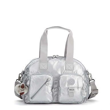 Defea Metallic Handbag - Platinum Metallic