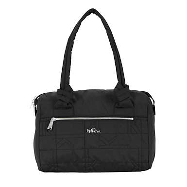 Val Quilted Handbag - Black Plaid Combo