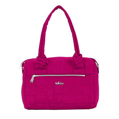 Val Quilted Handbag - Spring Red