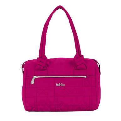 Val Quilted Handbag - Spring Red