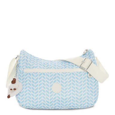 Sally Printed Handbag - Chevron Pool Blue