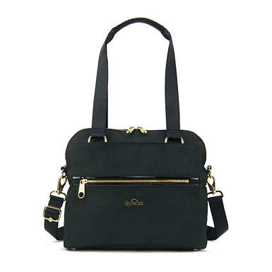 Catelyn Handbag - Black Crosshatch
