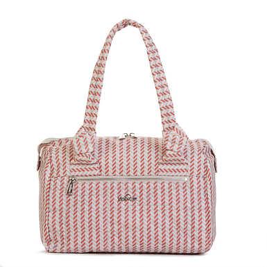 Val Quilted Printed Handbag - Zest Pink