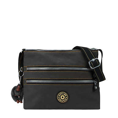 Alvar Vintage Crossbody Bag - Black