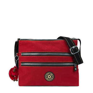Alvar Vintage Crossbody Bag - Red