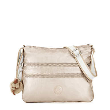 Alvar Metallic Crossbody Bag - Sparkly Gold