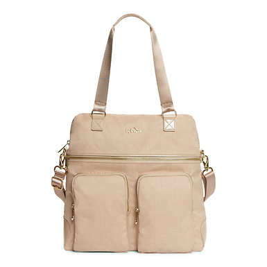 Camryn Laptop Handbag - Hummus Crosshatch