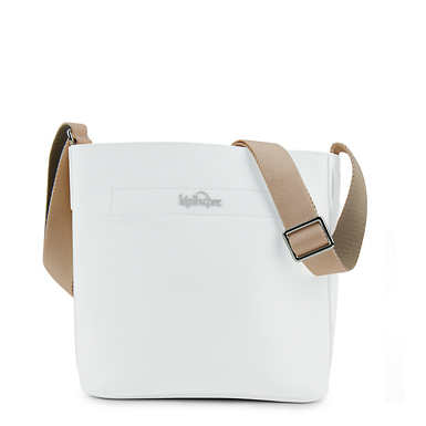 Isla Vegan Leather Bucket Bag - Alabaster