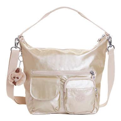 Archie Metallic Handbag - Sparkly Gold
