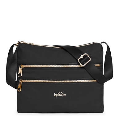 Alvar Crossbody Bag - Black Crosshatch