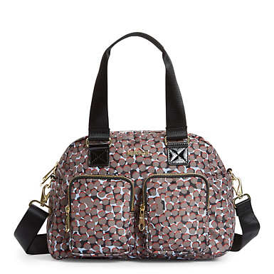 Defea Handbag - Graphic Animal Brown
