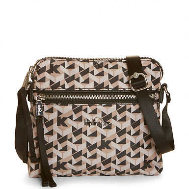Foxwell Printed Crossbody Bag - Optic Beige Multi