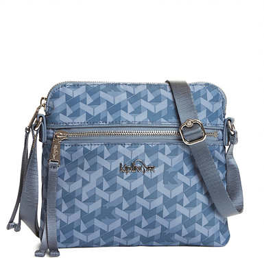Foxwell Printed Crossbody Bag - Optic Blue