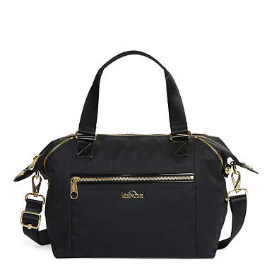 Art S Handbag - Black Crosshatch