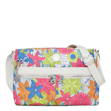Angie Printed Crossbody Bag - Floral Carnation