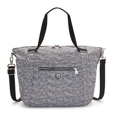 Kingsley Printed Tote Bag - Lacy Lines