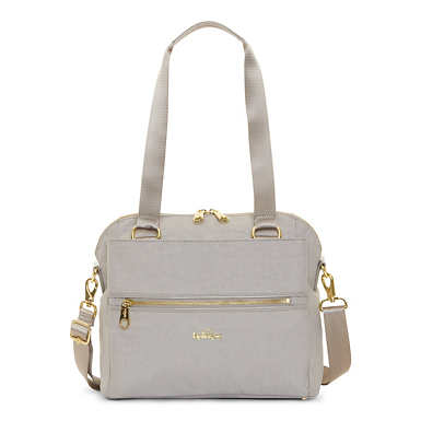 Catelyn Printed Handbag - Slate Grey Croc