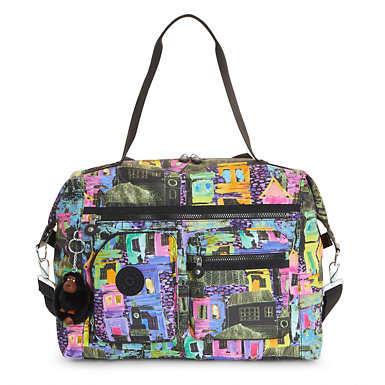 Carton Printed Travel Tote - Coronado Streets